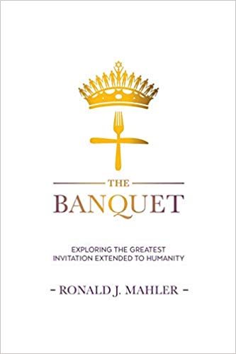 The Banquet by Ronald J Mahler book cover of a cross with cutlery
