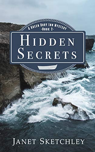 Hidden Secrets by Janet Sketchley cover of waves crashing onto rocks.