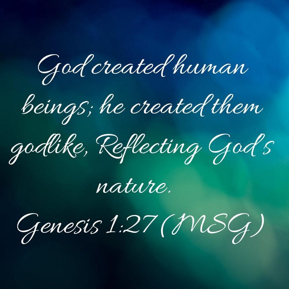 Scripture verse Genesis 1:27