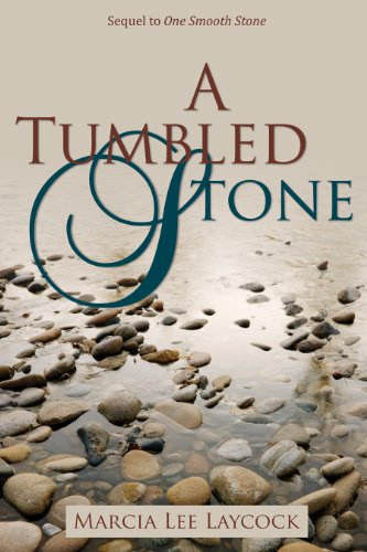 A Tumbled Stone by Marcia Laycock cover shows pebbles on a beach.