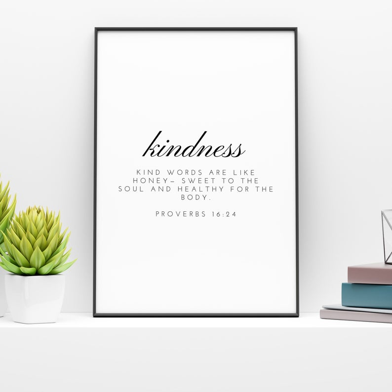 Kindness poster by WholeHeartedHome